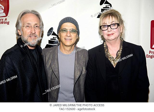 (L-R) Neil Portnow, Jimmy Iovine and Maureen Droney arrives at the Producers & Engineers Wing of the Recording Academy's 5th Annual GRAMMY Week event at The...