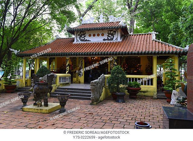 Temple in Tao Dan park,Ho Chi Minh City,Vietnam,South East Asia