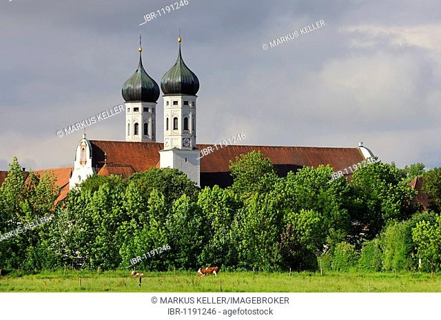 Kloster Benediktbeuern monastery, district of Bad Toelz-Wolfratshausen, Bavaria, Germany, Europe