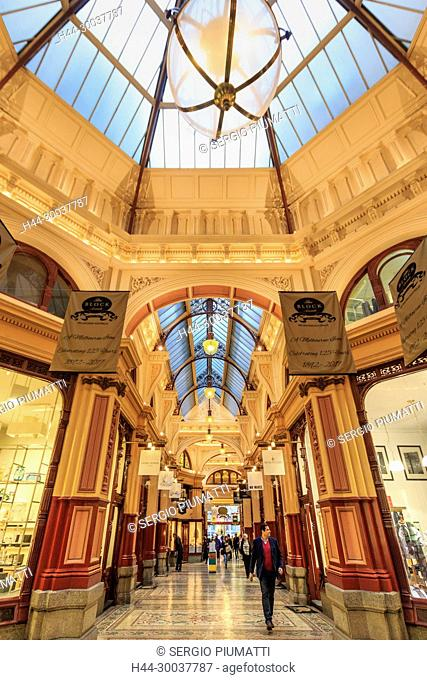 Australia, Block Arcade, Golden Mile heritage walk, Melbourne, Victoria, central business district, shopping