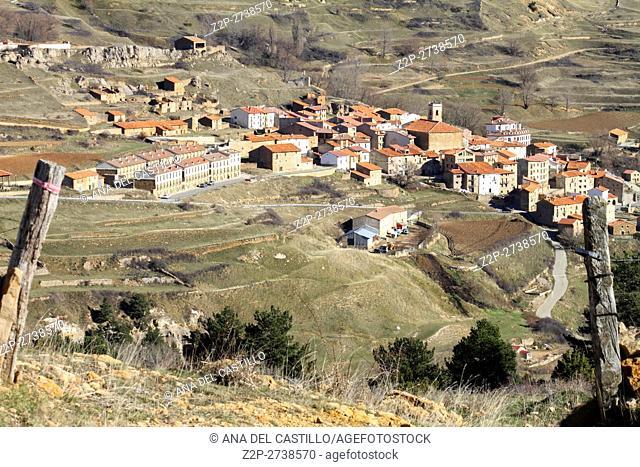 Valdelinares village Gudar mountains Teruel Aragon Spain