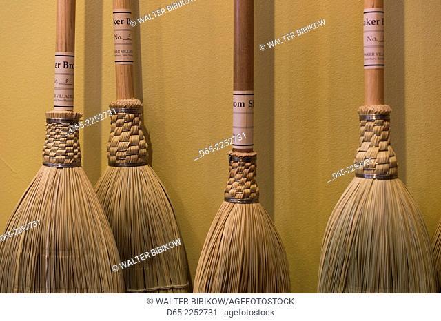 USA, New Hampshire, Canterbury, Canterbury Shaker Village, former Shaker religious community, Shaker crafts, brooms