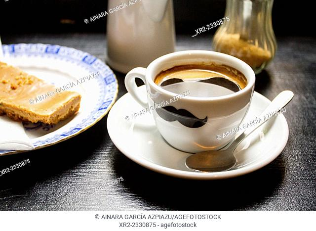 Coffee cup with a moustache