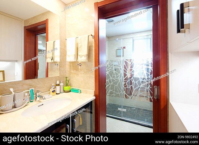 decoration and design of modern bathroom