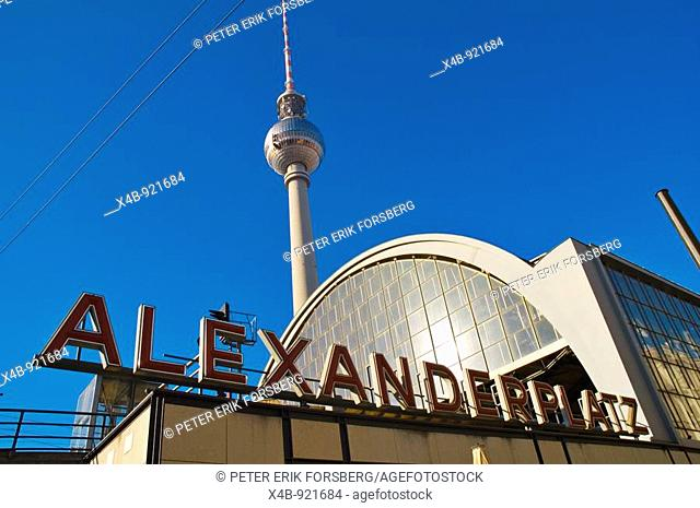 Alexanderplatz square east Berlin Germany EU