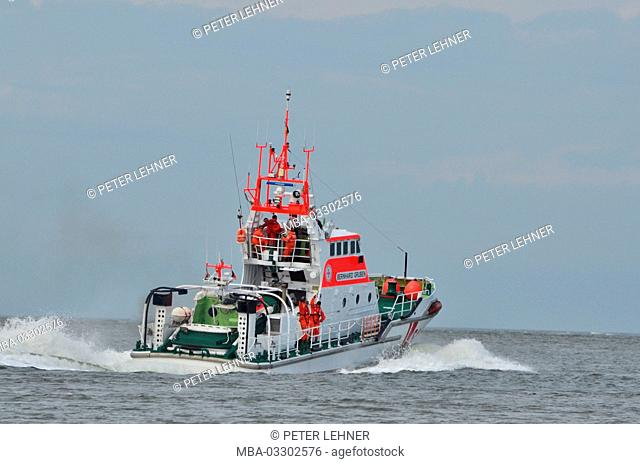 Germany, the North Sea, sea rescue, exercise, rescue lifeboat