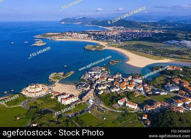 Aerial View, Isla, Arnuero Municipality, Comarca Trasmiera, Cantabria, Cantabrian Sea, Spain, Europe