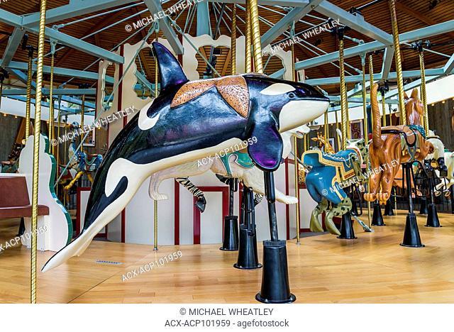 Carousel, Butchart Gardens, Brentwood Bay, Vancouver Island, British Columbia, Canada
