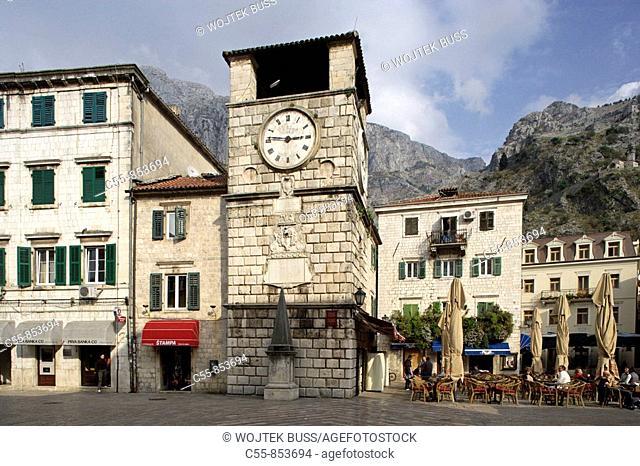 Kotor, old town, Town clock tower, 1602, Montenegro