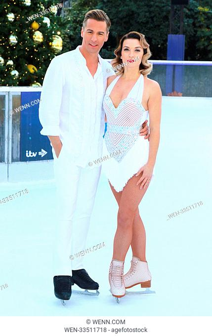 Dancing On Ice 2018 photocall at the Natural History Museum Ice Rink Featuring: Matt Evers, Candice Brown Where: London, United Kingdom When: 19 Dec 2017...