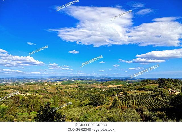 Countryside around San Gimignano,Tuscany, Italy, Europe
