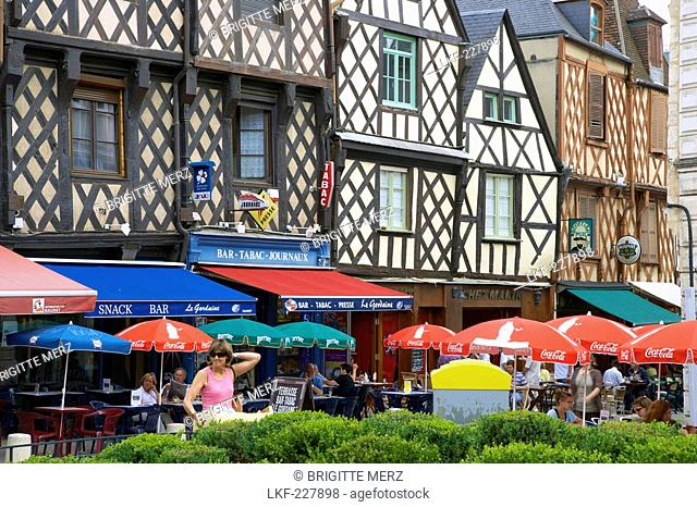 old city of bourges with place gordaine the way of st james chemins de saint jacques stock photo picture and rights managed image pic lkf 227898 agefotostock agefotostock