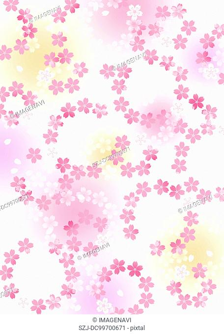 Oriental background with floral pattern