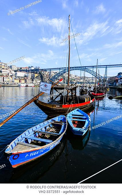 Rebelo boats in Douro river, Porto