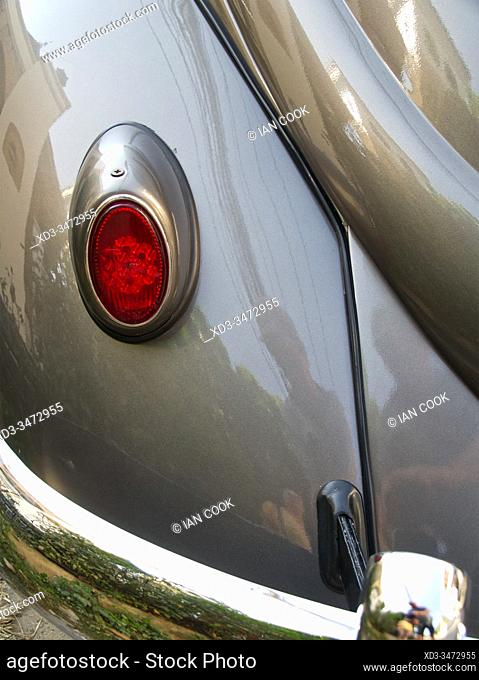 classic 1956 Volkswagen Beetle tail light, Chiang Mai, Thailand