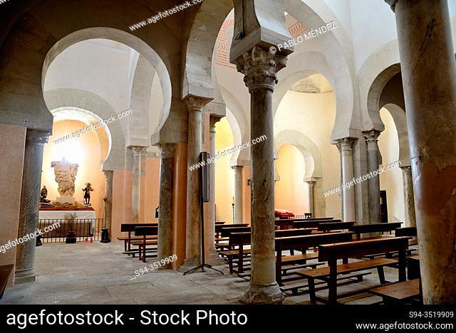 Interior. Church of San Cebrian de Mazote, Valladolid, Spain