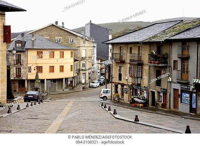 Costanilla street or square in Puebla de Sanabria, Zamora, Spain
