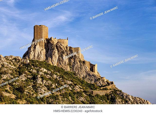 France, Aude, castle of Queribus