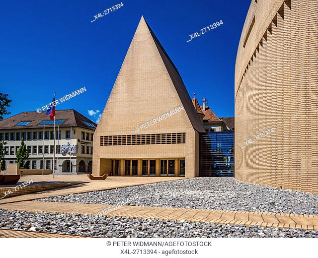 Parliament and government buildings, Vaduz, Principality of Liechtenstein, Europe