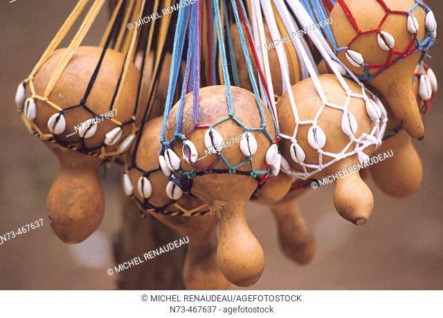 Gourds. Handicrafts. Ivory Coast
