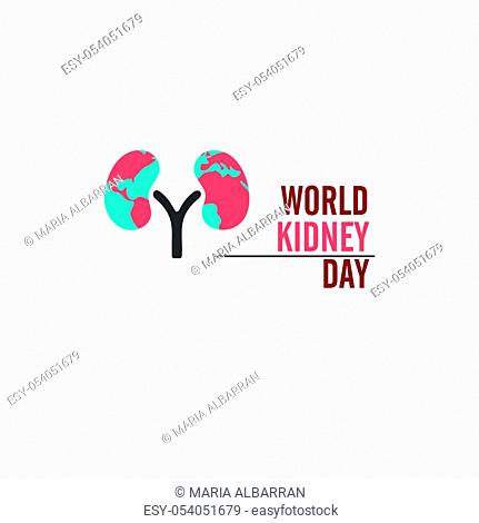 World kidney day. Isolated vector illustration
