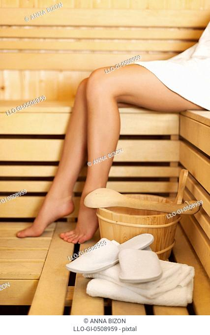 Time to relaxation in sauna Debica, Poland
