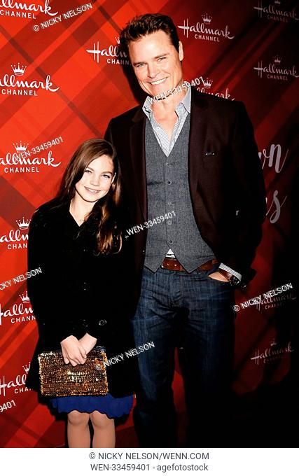 Hallmark's 'Christmas at Holly Lodge' screening at 189 The Grove Drive - Arrivals Featuring: Bella Neal, Dylan Neal Where: Los Angeles, California