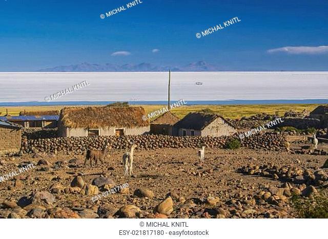 Village by salt plane