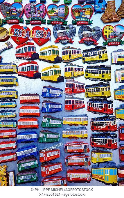 Portugal, Lisbon, souvenir shop, magnet