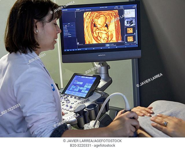 ultrasound diagnostic systems, Ultrasound 4d, Hospital, Donostia, San Sebastian, Gipuzkoa, Basque Country, Spain