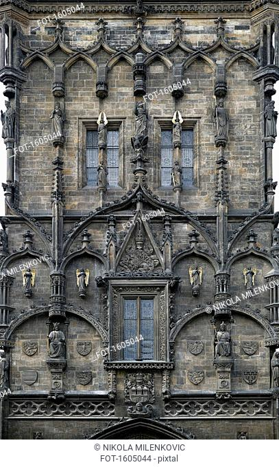 Detail view of Prasna Brana, Prague, Czech Republic