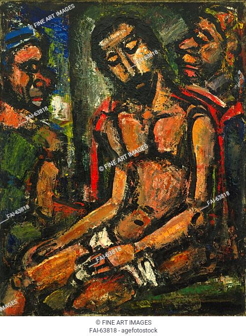 Georges Rouault, Christ Mocked by Soldiers, 1932, Oil on canvas, 92.1 x 72.4 cm. The Museum of Modern Art