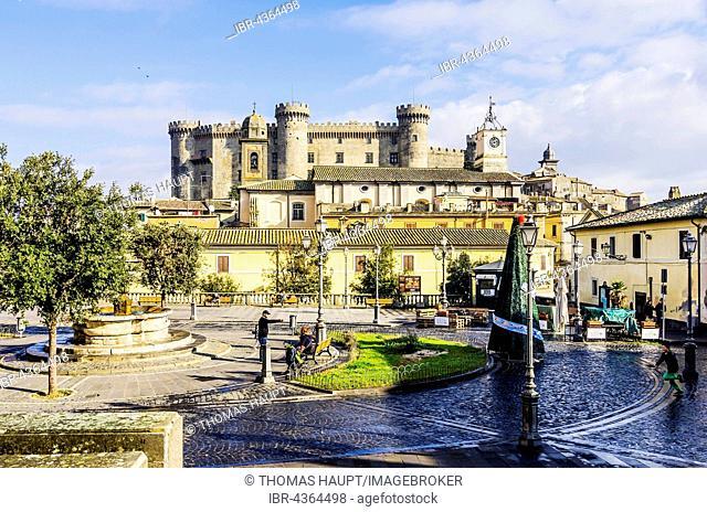 View of the castle Orsini-Odescalchi, Bracciano, Metropolis Rome, Lazio, Italy