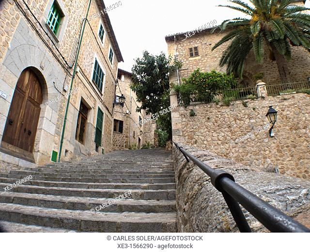 Old street, Fornalutx, Mallorca, Spain
