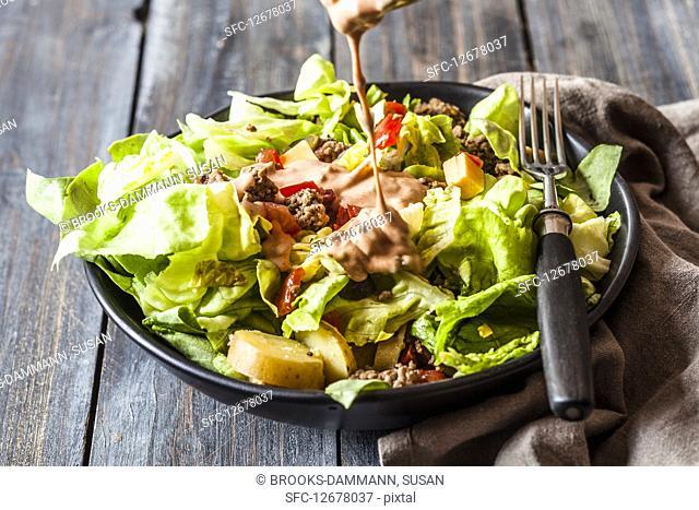 Burger Salad cocktail sauce