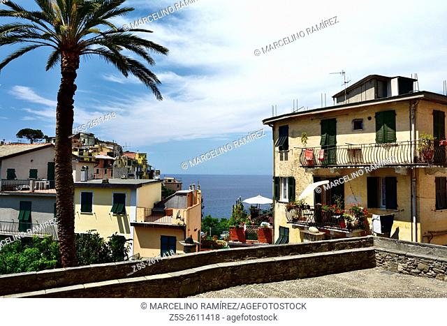 "Corniglia is a frazione (""""fraction"""") of the comune of Vernazza in the province of La Spezia. Unlike the other localities of the Cinque Terre"