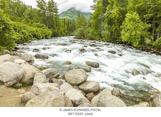 Little Susitna River on the road to Hatcher Pass Alaska