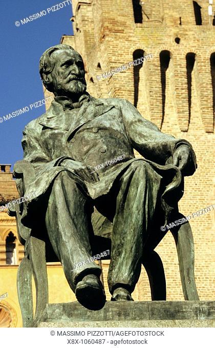 Statue of Giuseppe Verdi, Busseto, Italy