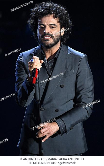 Singer Francesco Renga during the Sanremo early evening, 69th Festival of the Italian Song. Sanremo, Italy 05 Febr 2019