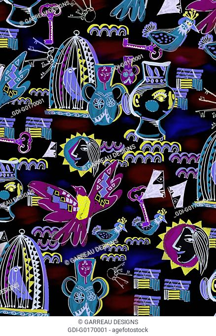 Colorful Picasso inspired design