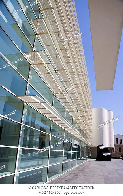 MACBA, Contemporary Art Museum of Barcelona in Raval, Barcelona, Catalonia, Spain