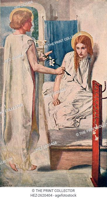 Ecce Ancilla Domini! (The Annunciation), 1849-50, (1911). Artist: Dante Gabriel Rossetti