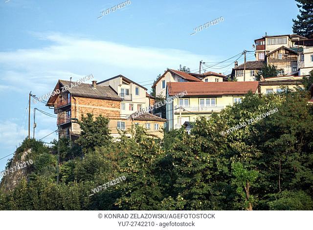 Houses in the Alifakovac district in Sarajevo, Bosnia and Herzegovina