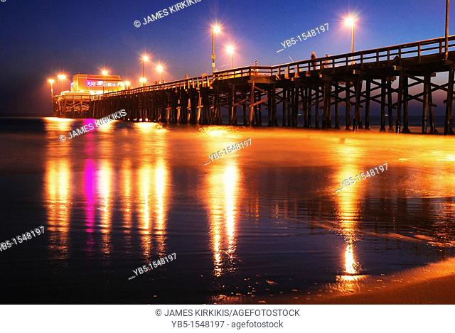 Newport Beach Pier, Sunset