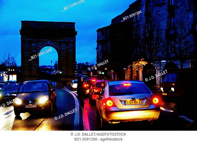 Porte de Bourgogne, at Bordeaux, Gironde, Aquitaine, France