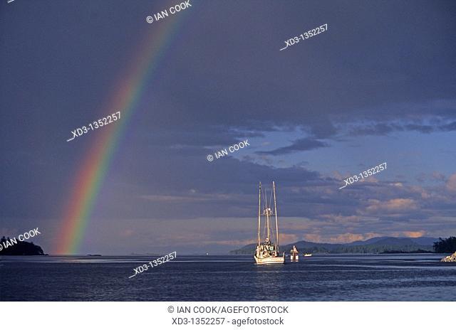 rainbow at Tsehum Harbour, Sidney, British Columbia, Canada