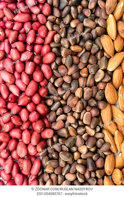 mixed nuts as a background
