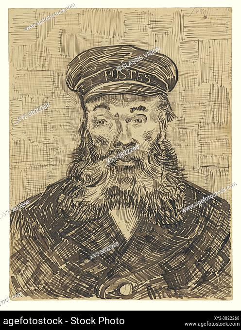 Portrait of Joseph Roulin by Vincent van Gogh. Vincent van Gogh, 1853 - 1890, Dutch Post-Impressionist artist. Joseph Roulin was a close friend of van Gogh's...