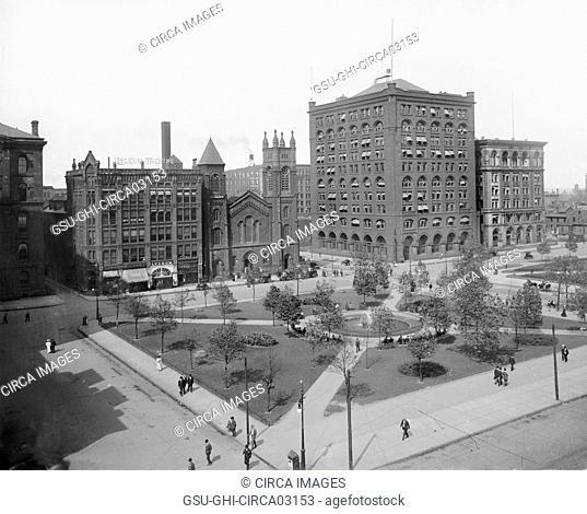 Public Square, Cleveland, Ohio, USA, Detroit Publishing Company, 1908