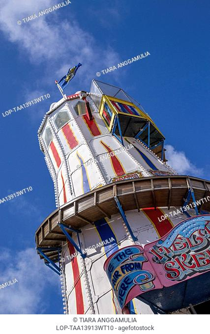 England, East Sussex, Brighton. Amusement ride on Brighton pier
